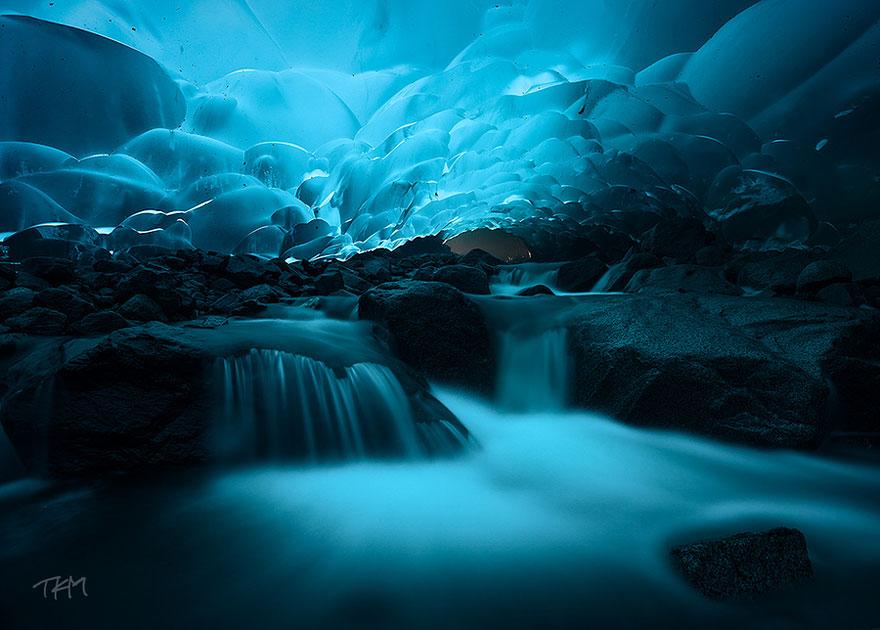 Cavernas de Gelo de Mendenhall, Juneu, Alaska