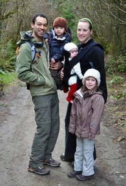 Laura King e sua família