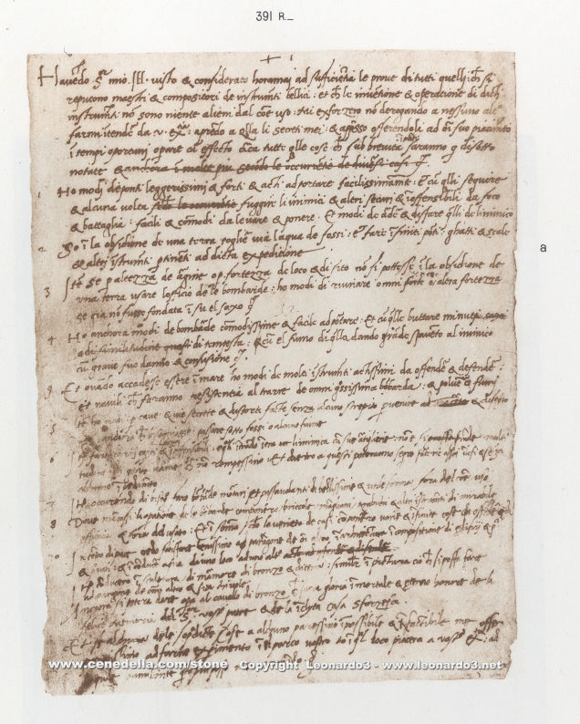 currículo de Leonardo da Vinci