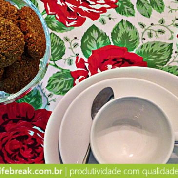Receita funcional de cookies de aveia